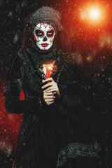 evil catrina in dress