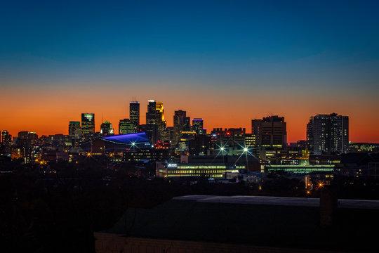 Downtown Minneapolis blue hour