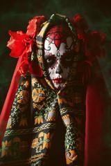 evil catrina at halloween