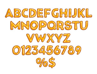Cookies alphabet vector set