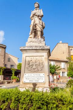 monument aux morts de Gordes, Vaucluse, France