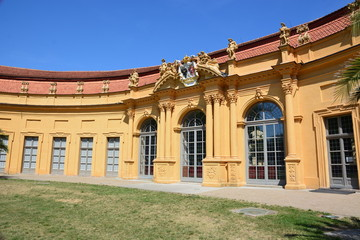 Historical  Conservatory (Orangerie) in the  city of Erlangen,  ( Bavaria),  Germany
