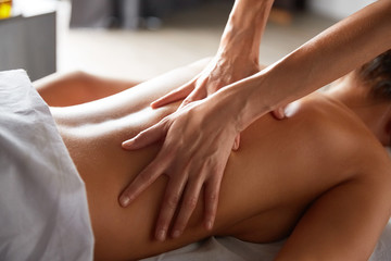 Full body massage in spa salon
