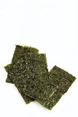 Roasted Seaweed Sheets On White Background