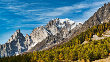 Mont Blanc on an autumn morning