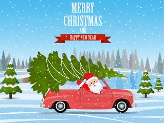 Merry Christmas Winter illustration.