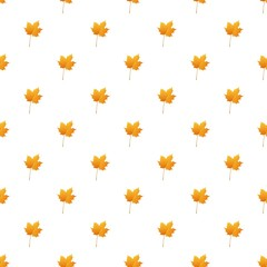 Maple leaf pattern seamless repeat background for any web design