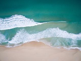 Aerial view of a beach, Western Australia, Australia