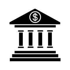 Online banking glyph icon