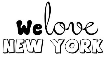We love New York wallpaper diverse fonts