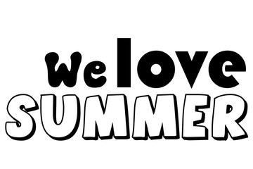 We love summer wallpaper diverse fonts