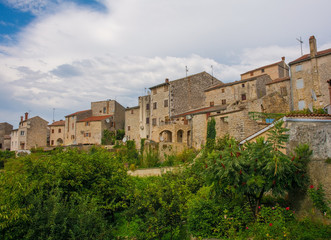 The historic hill village of Bale (also called Valle) in Istria, Croatia