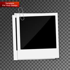 Photo frame on transparent background