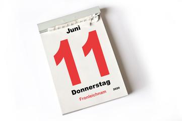 11. Juni 2020 Fronleichnam