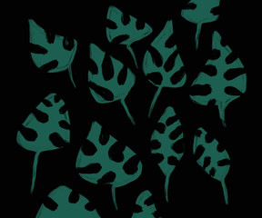 abstract background with green leaves for design and cards
