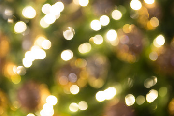 Defocused Christmas tree light background