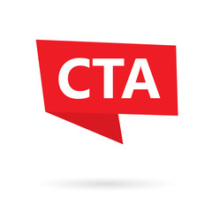 CTA (Call To Action) acronym on a sticker- vector illustration