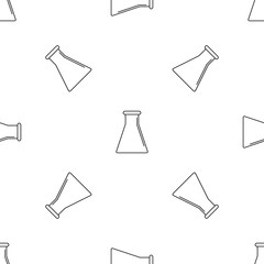 Glass flask pattern seamless vector repeat geometric for any web design