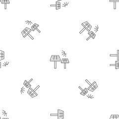 Solar panel pattern seamless vector repeat geometric for any web design