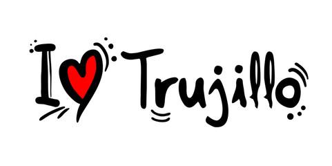 Trujillo city of Peru love message