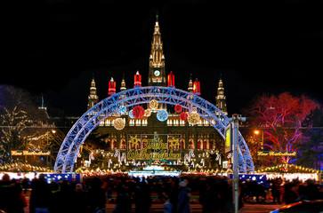 Christmas market in Vienna - Austria