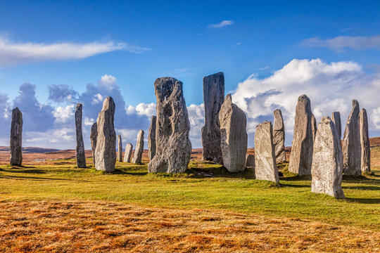Stone circle at Callanish, Isle of Lewis, Western Isles, Outer Hebrides, Scotland, UK