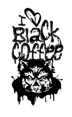 Wolf Black Coffee Lettering Logo