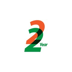 22 Year Anniversary Vector Template Design Illustration