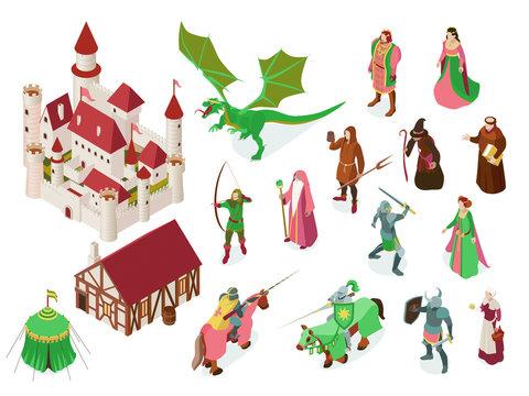 Medieval Fairy Tale Isometric Set