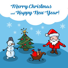Merry Christmas and Happy Ner Year card
