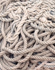 Vertical depth of a coiled rope