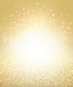 Glitter gold textured background