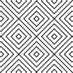 Black and White, Concentric Squares, Tiles, Seamless Pattern