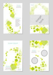Minimal presentations, portfolio templates. elements on background. Brochure cover vector design. Presentation slides for flyer, leaflet, brochure, report, marketing, advertising, banner