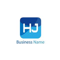 Initial HJ Letter Logo Design