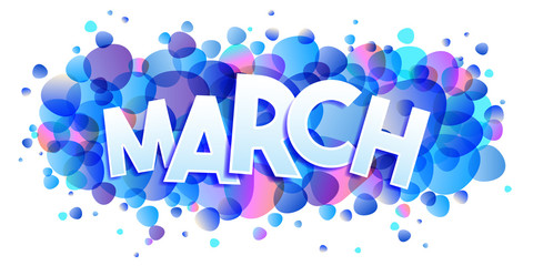 March word vector creative banner