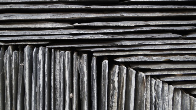 Slate tiles formed in groups for patterns for background texture in photoshop or similar