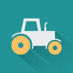 Silhouette icon tractor