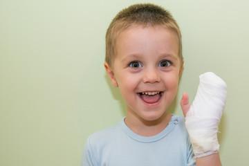 Bandaged arm of a child