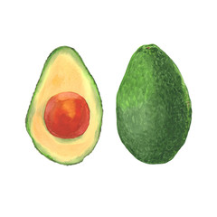 image of cut avocado