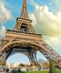 Wall Mural - Sky Colors over Eiffel Tower, Paris