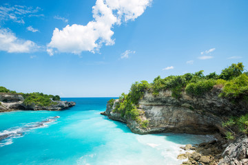 Photo sur Aluminium Bali blue bay lagoon near Bali in Indonesia, Nusa Penida