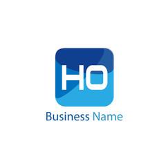 Initial HO Letter Logo Design