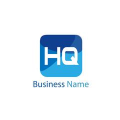 Initial HQ Letter Logo Design