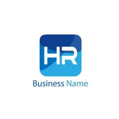 Initial HR Letter Logo Design