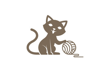 Creative Cute Cat Logo Design Illustration