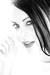 Frau Portrait in schwarzweiß