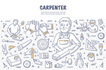 Carpenter Doodle Concept