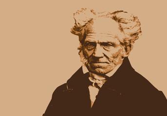 Portrait de Schopenhauer, célèbre philosophe allemand du 19ème siècle