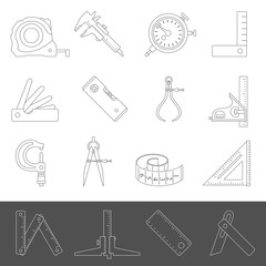 Line Icons - Measuring Tools